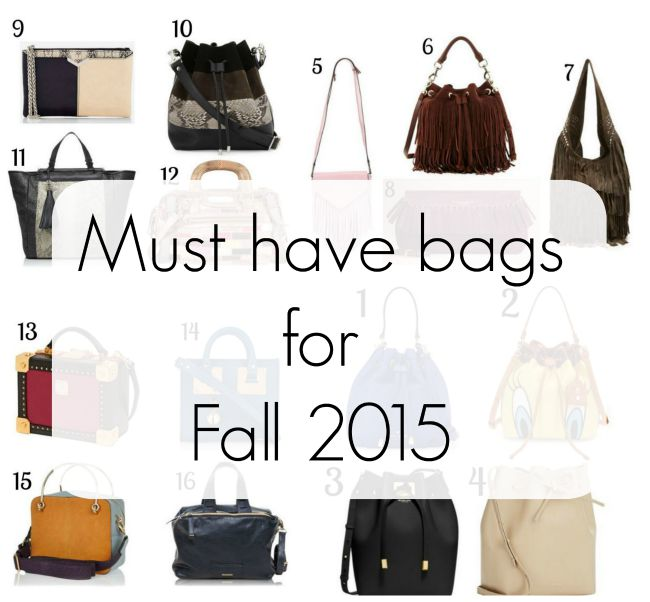 Bag inspiration for fall 2015 | www.beautybymissl.com @beautybymissl