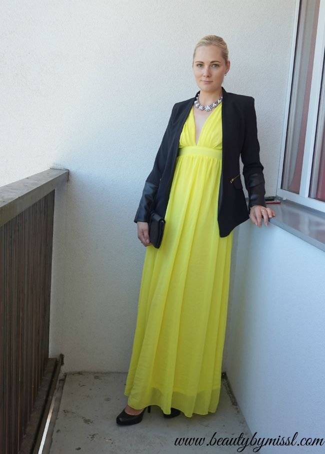 black and yellow outfit   www.beautybymissl.com