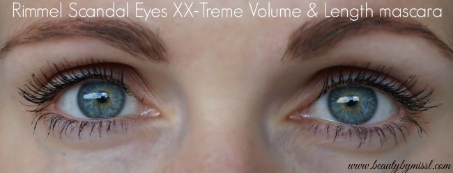 Rimmel Scandal Eyes XX-Treme Volume & Length mascara first impressions | www.beautybymissl.com