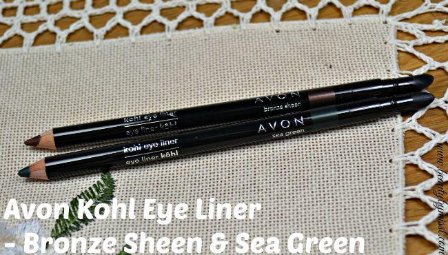 Avon Kohl Eye Liner - Bronze Sheen & Sea Green