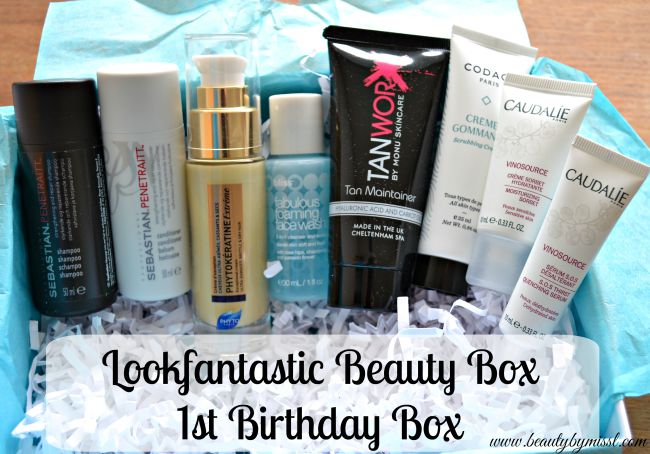 LookFantastic Beauty Box 1st Birthday Box aka September 2015 box