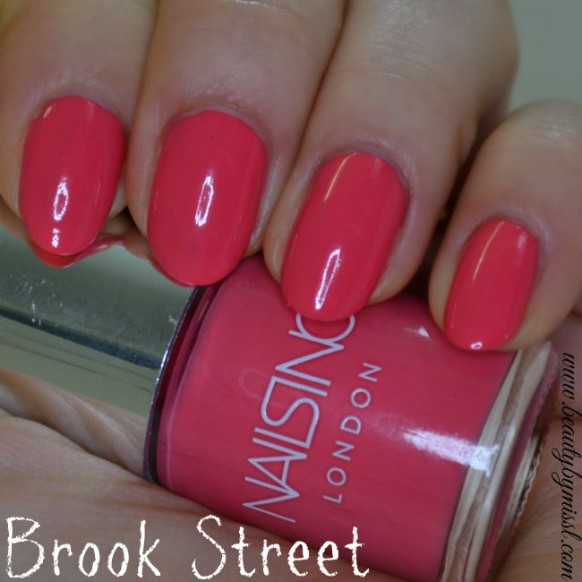 Nails Inc Brook Street swatches |