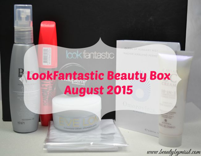 Lookfantastic Beauty Box August 2015
