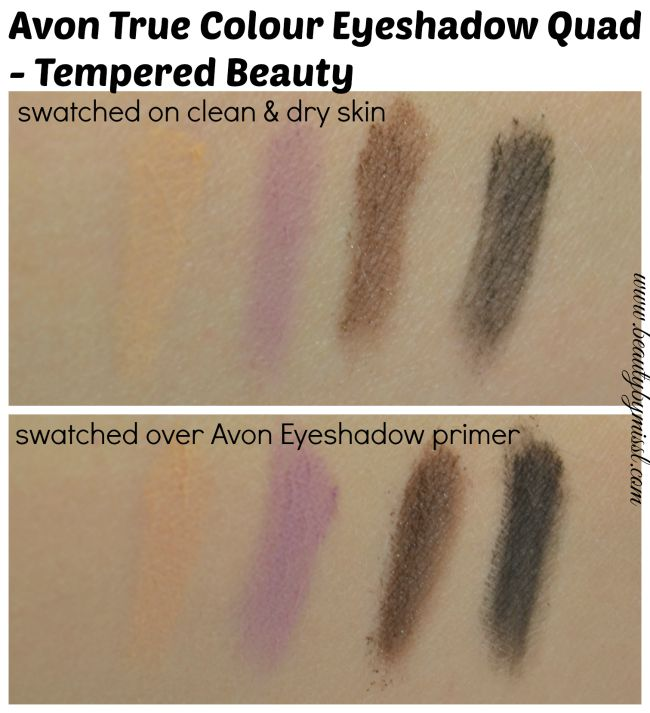 Avon True Colour Eyeshadow Quad - Tempered Beauty swatches
