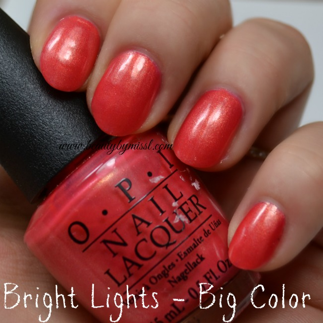 OPI Bright Lights - Big Color