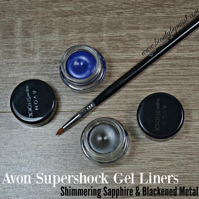 Avon Supershock Gel Liner - Blackened Metal & Shimmering Sapphire