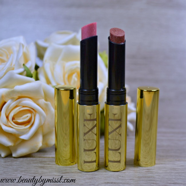 Avon Luxe Shine Brilliance Lipstick - Sequins Pink & Rose With Gold