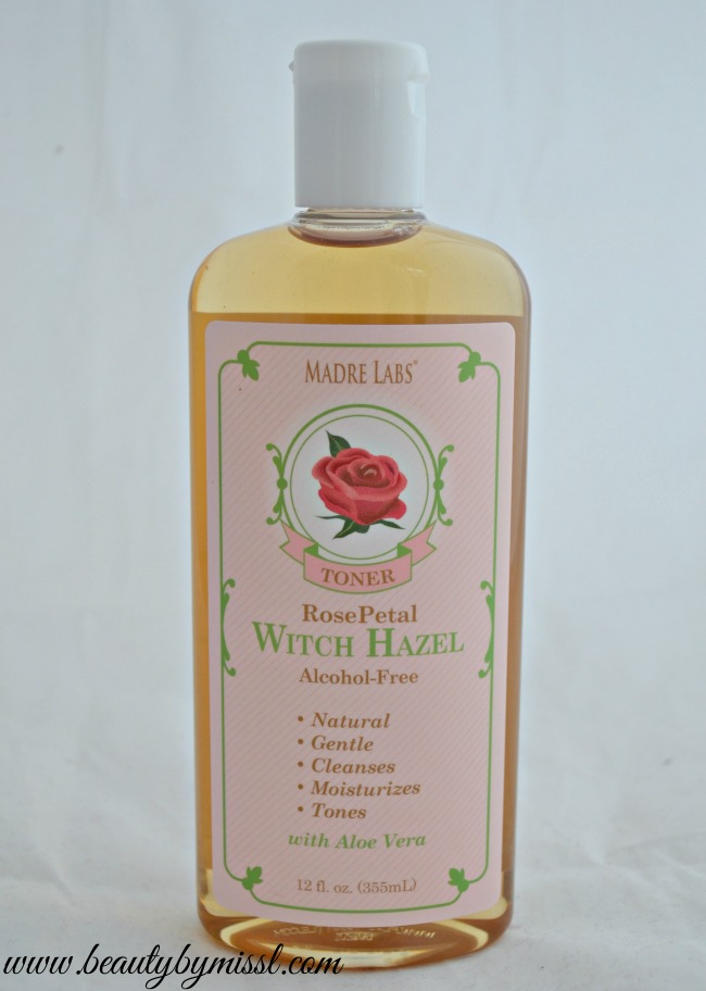 Alcohol Free Madre Labs Witch Hazel Toner with Rose Petal