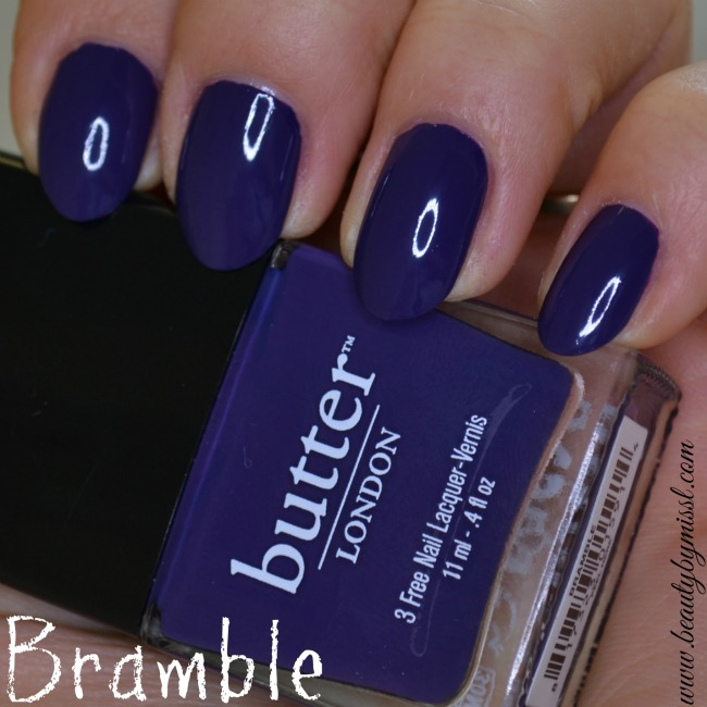 Butter London Bramble swatches and review