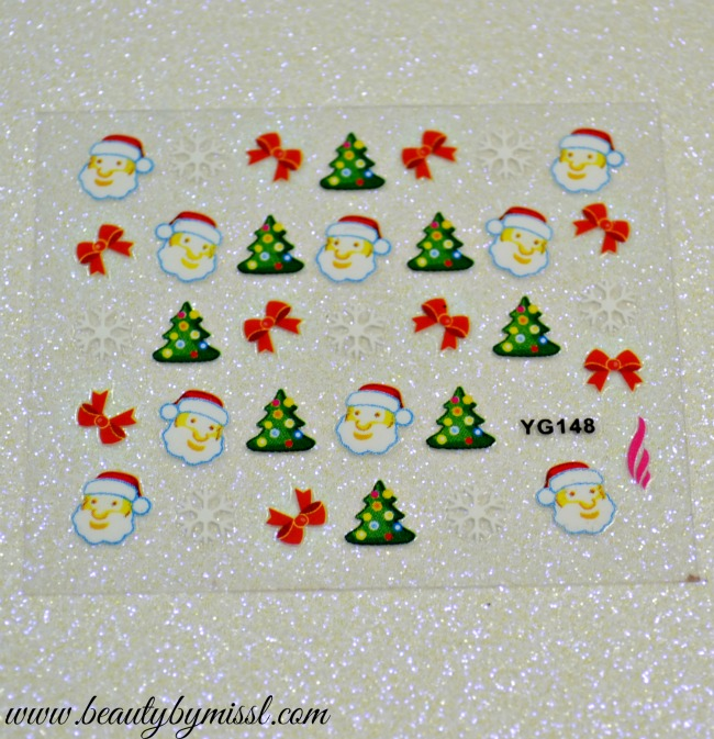 Mad Beauty Christmas Themed nail stickers