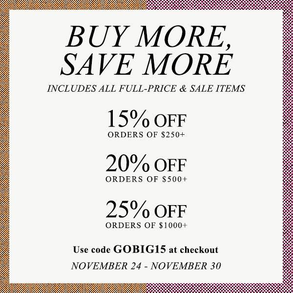 Buy More, Save More at Shopbop