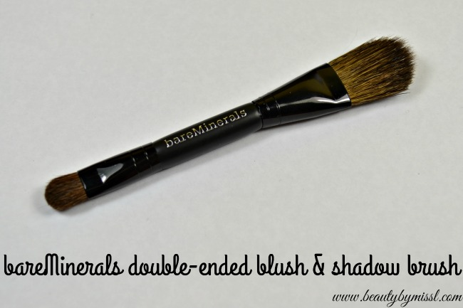 bareMinerals double-ended blush & shadow brush