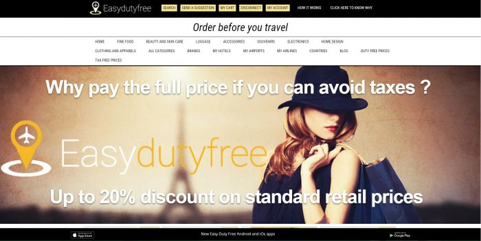 Easy Duty Free is the leading website for online duty free shopping