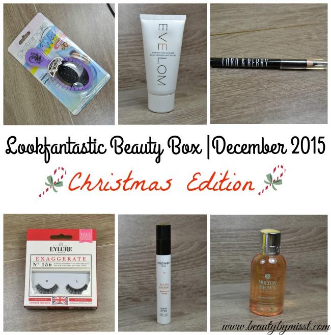 Lookfantastic Beauty Box |December 2015 - Christmas Edition