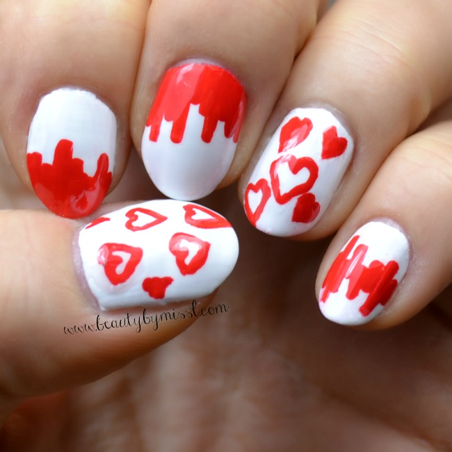 Valentine's Day nail art idea 1