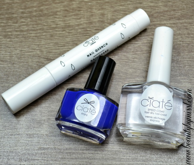 Ciaté Nail Quench, Ciate Pool Party, Ciaté Speed Coat