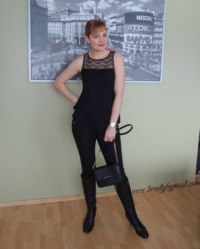 black outfit