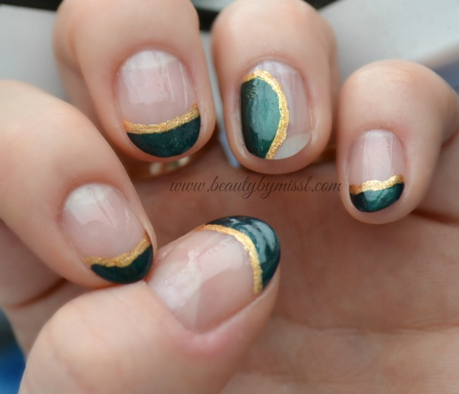 7 days of St. Patrick's Day Nail Art - Day 2