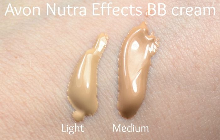 Avon Nutra Effects regular BB cream swatches