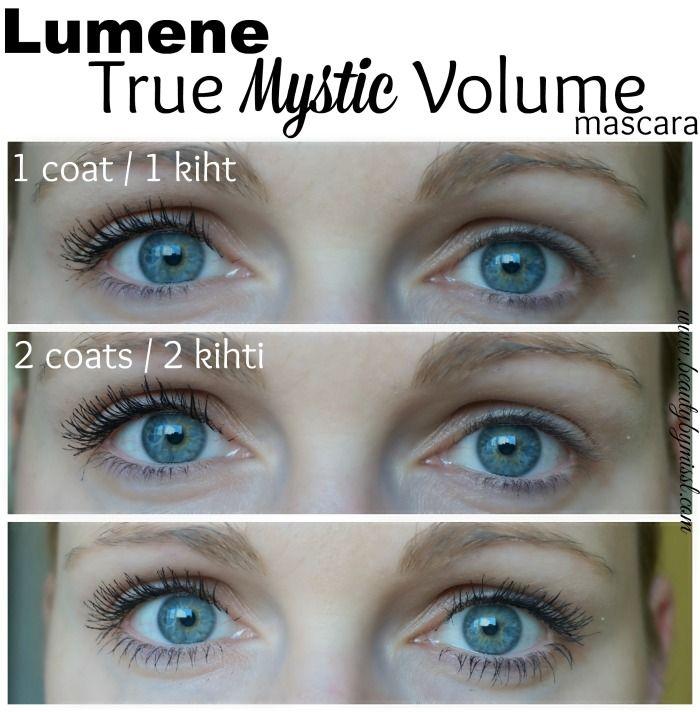 Lumene True Mystic Volume mascara on my lashes