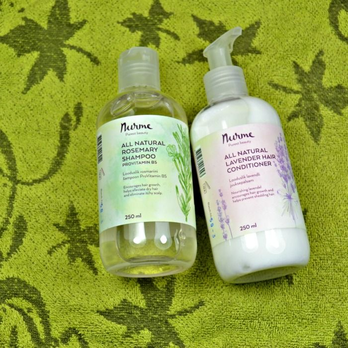 Nurme All Natural Rosemary Shampoo & Lavender Hair Conditioner