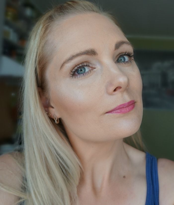 everyday makeup look with NYX Butter Gloss Sugar Cookie