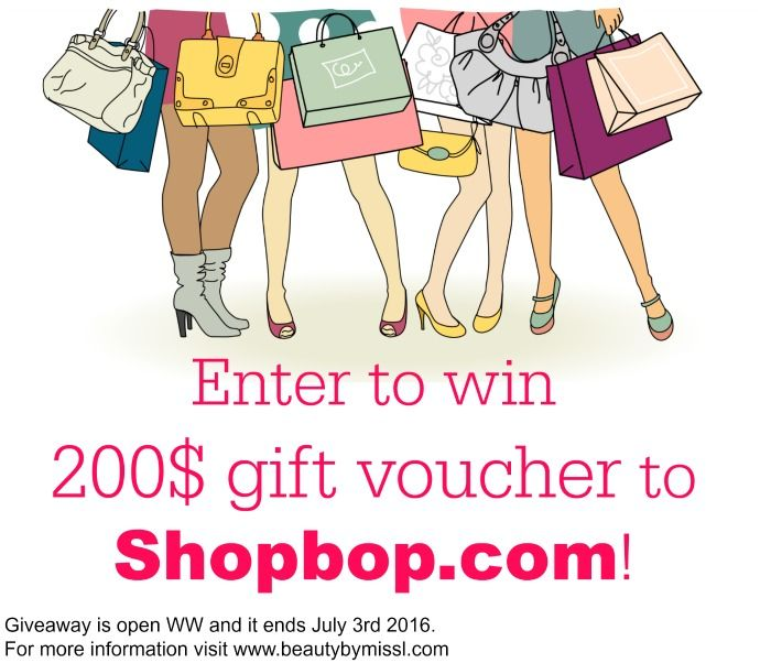 Giveaway time! Enter to win 200$ gift voucher to Shopbop!