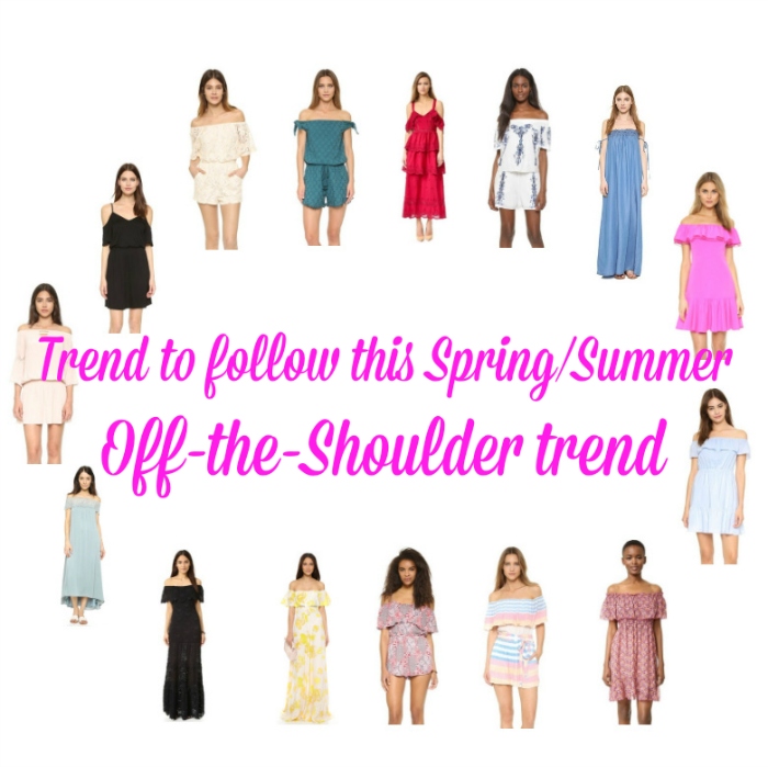 Trend to follow this SpringSummer Off Shoulder trend