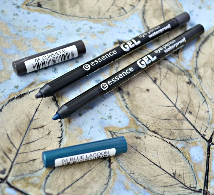 essence gel eye pencil waterproof 05 gunmetal 06 blue lagoon