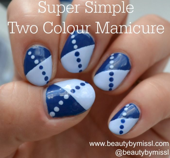 super simple two colour manicure