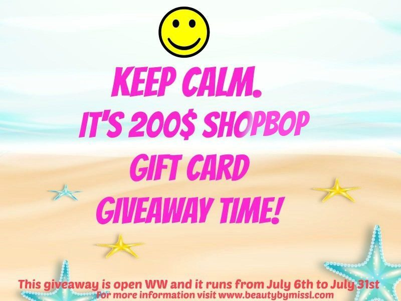 Keep Calm. It's 200$ Shopbop gift card giveaway time