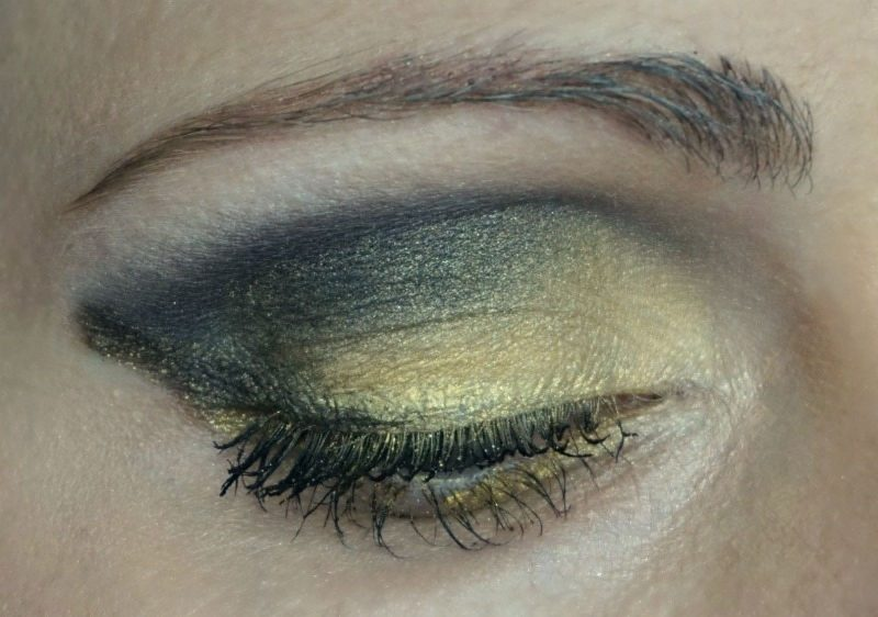 taupe plum and yellow eye makeup