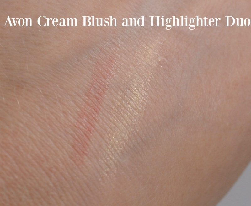 Avon Ideal Flawless Cream Blush and Highlighter Duo swatches