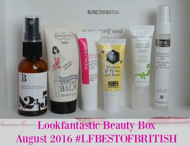 Lookfantastic Beauty Box August 2016 #LFBESTOFBRITISH
