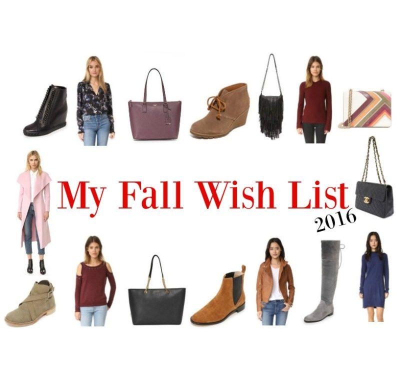 My Fall Wish List 2016
