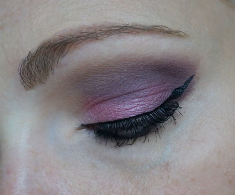 Pink & brown-purple eye makeup with Too Faced Sugar Pop eyeshadow palette