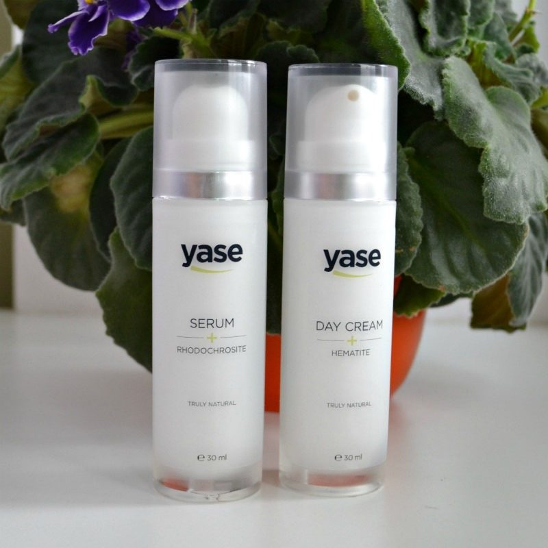 Yase Cosmetics Serum with Rhodochrosite Extract & Day Cream with Hematite Extract
