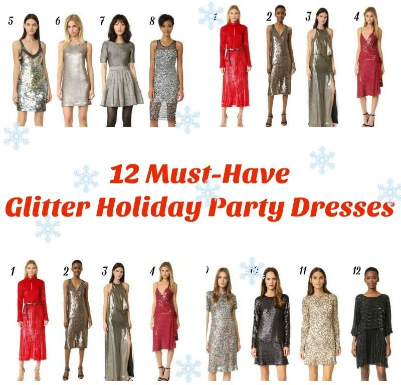 12 Must-Have Glitter Holiday Party Dresses & LINK UP