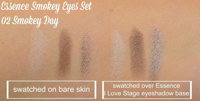 Essence Smokey Eyes Set 02 Smokey Day swatches