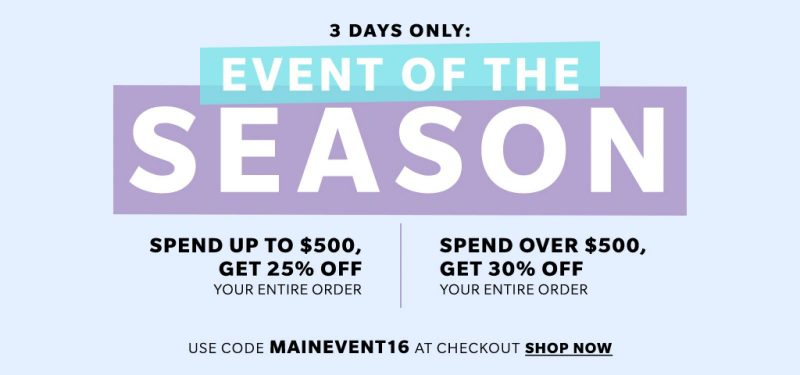 Event of the season - SHOPBOP SALE - get up to 30% off your order