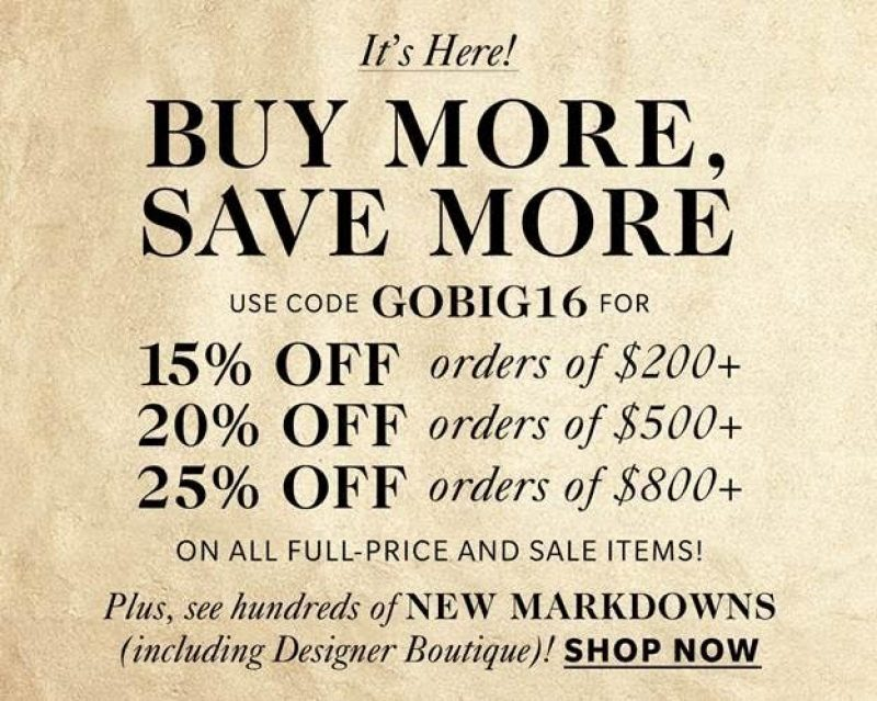 Buy More, Save More at Shopbop!
