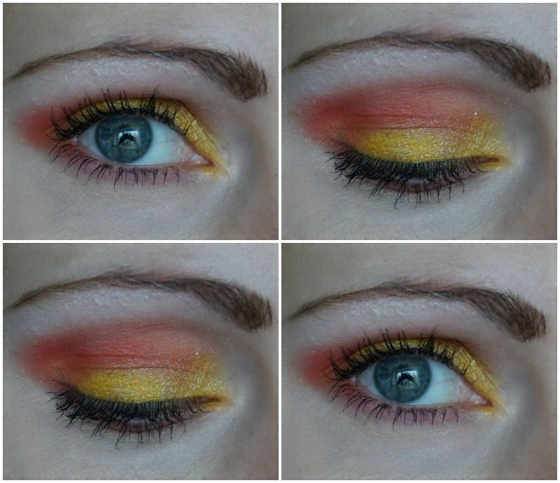 yellow orange eye makeup