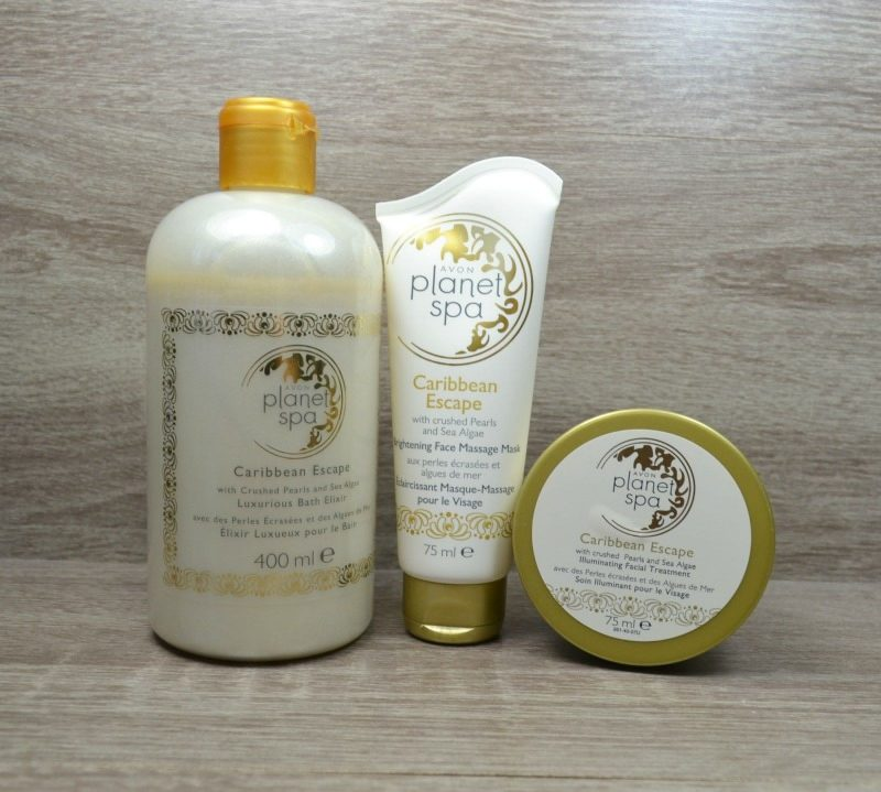 Avon Planet Spa Caribbean Escape with Crushed Pearls and Sea Algae