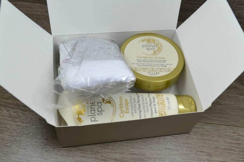Avon Planet Spa Caribbean Escape with Crushed Pearls and Sea Algae gift set