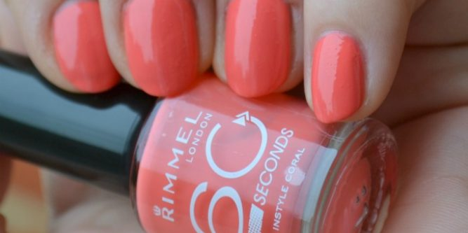 Rimmel 60 Seconds Nail Polish 415 Instyle Coral Beauty By Miss L