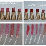 Avon Luxe lipstick swatches
