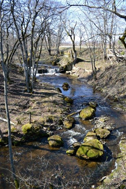 Aluoja Cascade in Ida-Viru County Estonia