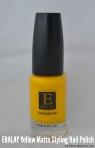 Ebalay Yellow MAatte nail polish