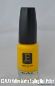 Ebalay Yellow MAatte nail polish