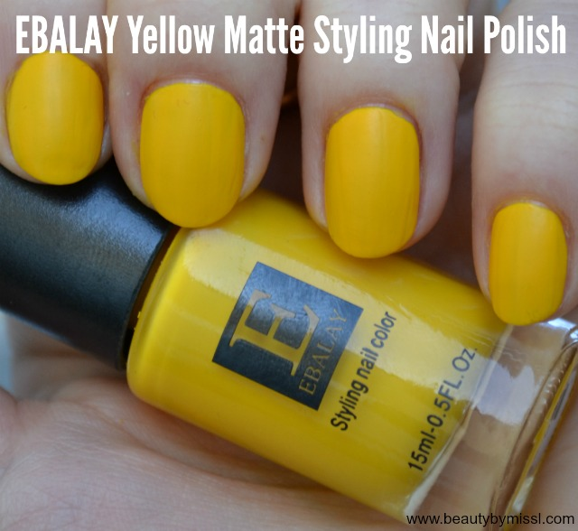 Ebalay Yellow Matte Styling nail polish swatch